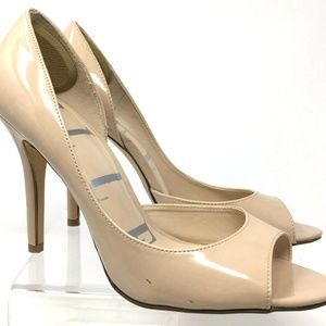 ELLE Women Stiletto US Size 9.5 Nude Synthetic